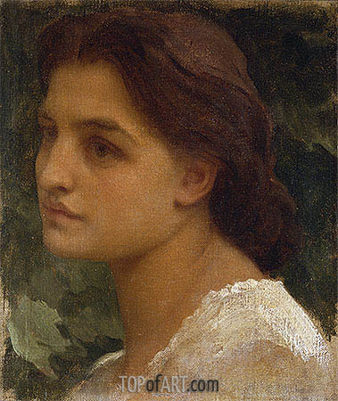 Portrait of a Young Lady (Vittoria), undated | Frederick Leighton | Painting Reproduction