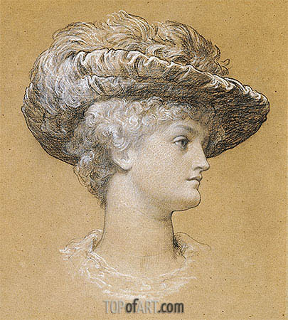 Portrait of Dorothy Dene, 1884 | Frederick Leighton| Painting Reproduction