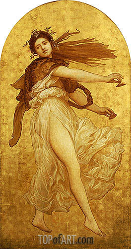 Frederick Leighton | The Dance of the Cymbalists (Left Panel), undated