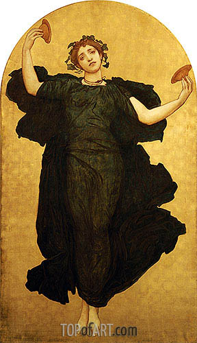 The Dance of the Cymbalists (Central Panel), undated | Frederick Leighton| Painting Reproduction