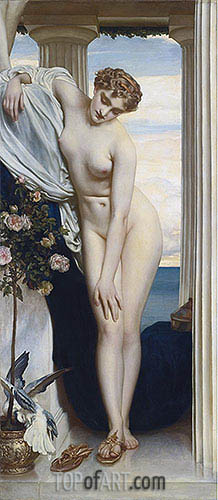 Venus Disrobing for the Bath, undated | Frederick Leighton | Painting Reproduction