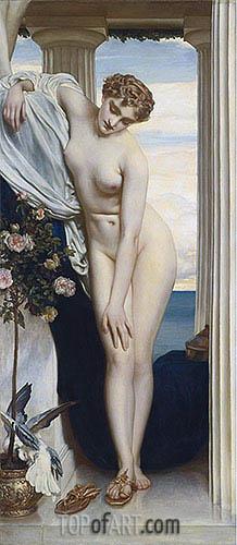 Venus Disrobing for the Bath, undated | Frederick Leighton | Gemälde Reproduktion