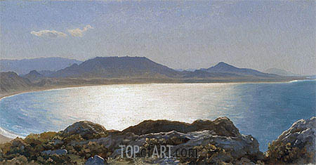 Bay Scene, Island of Rhodes, undated | Frederick Leighton| Painting Reproduction