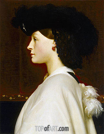 Augusta Hoare, undated | Frederick Leighton | Painting Reproduction