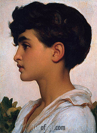 Portrait of Paolo, 1875 | Frederick Leighton| Painting Reproduction