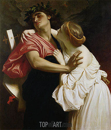 Frederick Leighton | Orpheus and Euridyce, 1864