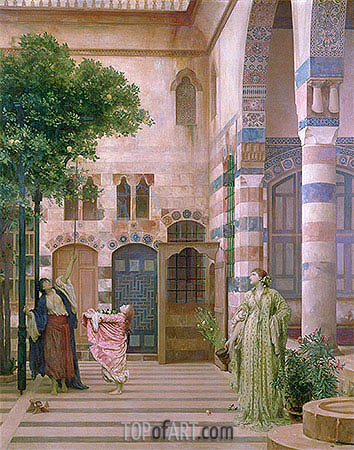 Old Damascus, Jewish Quarter (Gathering Lemons), c.1873-74 | Frederick Leighton| Painting Reproduction