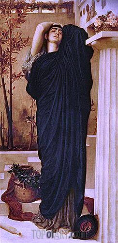 Electra at the Tomb of Agamemnon, undated | Frederick Leighton | Painting Reproduction