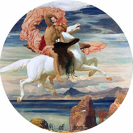 Perseus on Pegasus Hastening to the Rescue of Andromeda, c.1895/96 | Frederick Leighton | Painting Reproduction