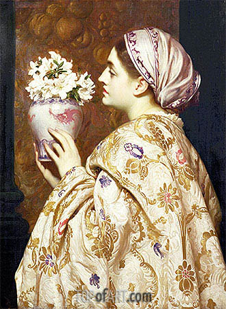 A Noble Lady of Venice, c.1865 | Frederick Leighton | Painting Reproduction