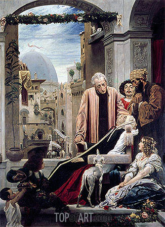 The Death of Brunelleschi, 1852 | Frederick Leighton| Painting Reproduction
