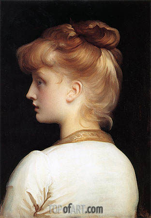 Profile of a Girl, undated | Frederick Leighton | Painting Reproduction