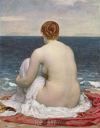 Psamanthe, 1880 | Frederick Leighton| Painting Reproduction