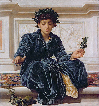 Weaving the Wreath, 1872 | Frederick Leighton| Painting Reproduction