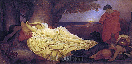 Cimon and Iphigenia, 1884 | Frederick Leighton | Painting Reproduction