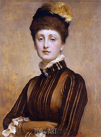 May Prinsep, 1885 | Frederick Leighton | Gemälde Reproduktion
