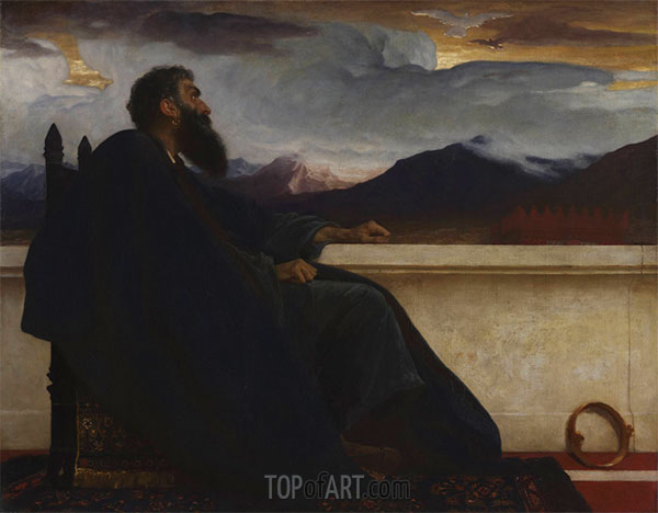 David, 1865 | Frederick Leighton | Painting Reproduction
