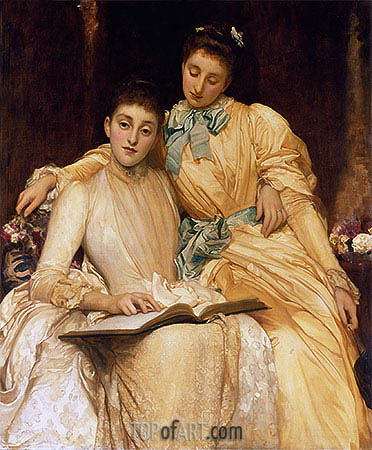 The Misses Stewart Hodgson, undated | Frederick Leighton | Painting Reproduction