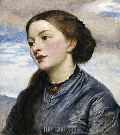 Mrs John Hanson Walker, 1867 | Frederick Leighton | Painting Reproduction