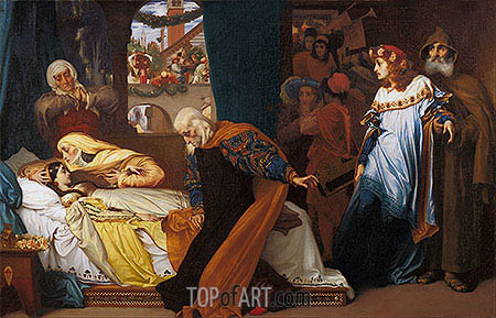 The Feigned Death of Juliet, c.1856/58 | Frederick Leighton| Painting Reproduction