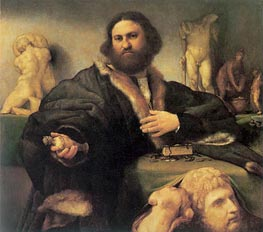 Portrait of Andrea Odoni, 1527 von Lorenzo Lotto | Gemälde-Reproduktion