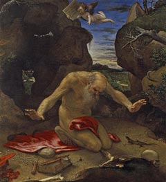 Saint Jerome in Penitence | Lorenzo Lotto | Painting Reproduction