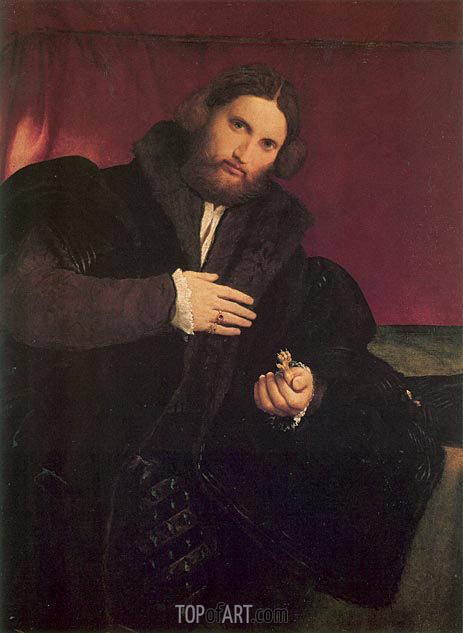 Man with a Golden Paw, c.1527 | Lorenzo Lotto | Painting Reproduction