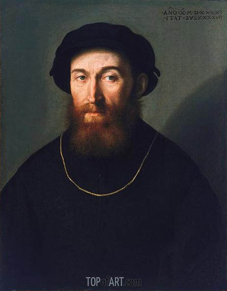 Bust of a Bearded Man, 1541 | Lorenzo Lotto | Painting Reproduction