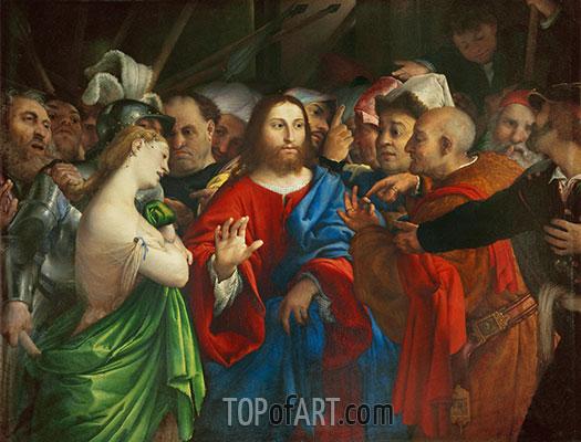Lorenzo Lotto | The Woman Taken in Adultery, c.1527/29