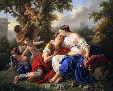 Rinaldo and Armida, 1766 | Lagrenee| Painting Reproduction