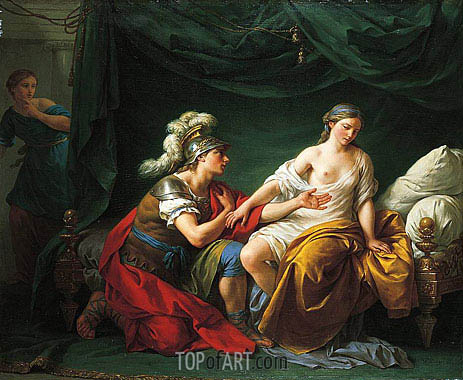 Alcibiades on His Knees Before His Mistress, c.1781 | Lagrenee| Painting Reproduction