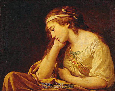 Melancholy, undated | Lagrenee | Painting Reproduction