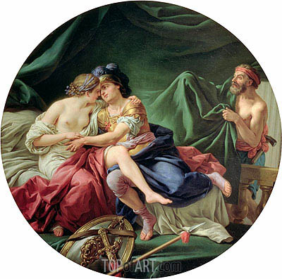 Mars and Venus Surprised by Vulcan, 1768 | Lagrenee | Painting Reproduction