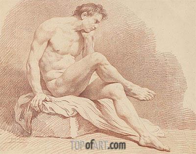 Seated Male Nude, undated | Lagrenee | Gemälde Reproduktion