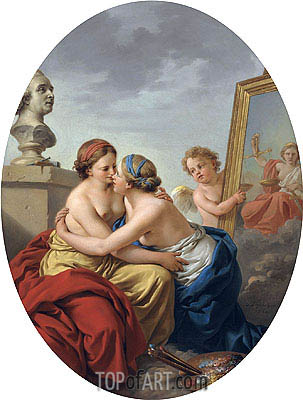 The Union of Painting and Sculpture, 1768 | Lagrenee| Painting Reproduction
