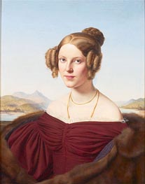 Portrait of Maria Feldtmann-Simons, 1836 by Louis Ammy Blanc | Painting Reproduction