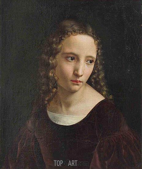 Bildnis eines jungen Medchens, undated | Louis Ammy Blanc | Painting Reproduction