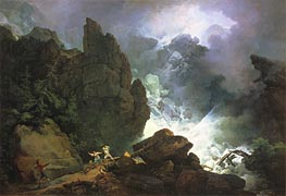 An Avalanche in the Alps, 1803 by de Loutherbourg | Painting Reproduction