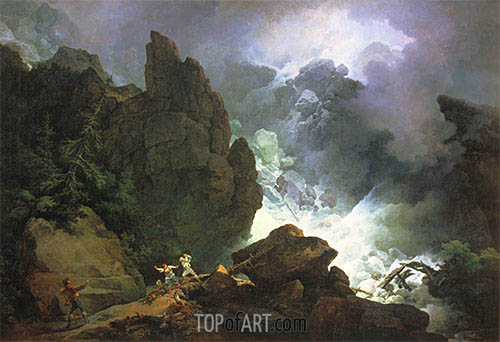 de Loutherbourg | An Avalanche in the Alps, 1803
