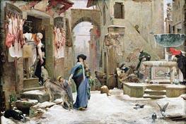 The Wolf of Gubbio, 1877 von Luc Olivier Merson | Gemälde-Reproduktion