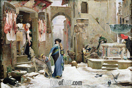 The Wolf of Gubbio, 1877 | Luc Olivier Merson | Painting Reproduction