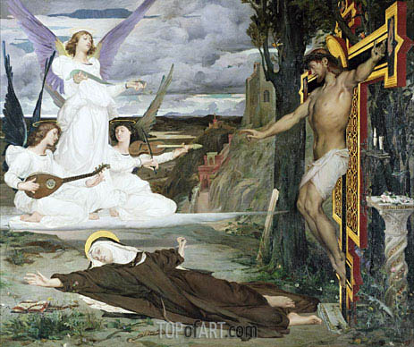 Luc Olivier Merson | The Vision Legend of the 14th Century, 1872