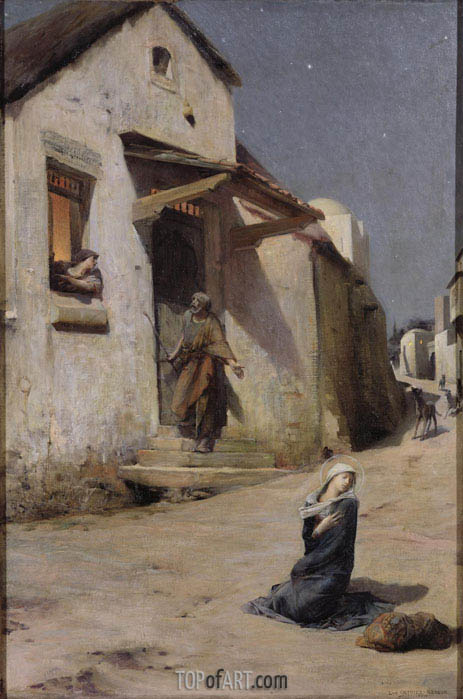 The Arrival at Bethlehem, 1897 | Luc Olivier Merson | Painting Reproduction