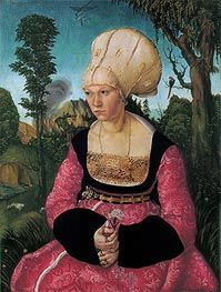 Anna Putsch, First Wife of Dr. Johannes Cuspinian, c.1502/03 by Lucas Cranach | Painting Reproduction