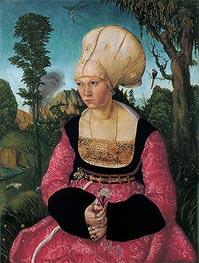 Anna Putsch, First Wife of Dr. Johannes Cuspinian, c.1502/03 von Lucas Cranach | Gemälde-Reproduktion