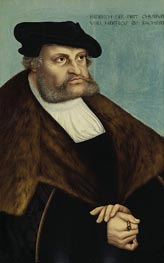 Portrait of Elector Frederick the Wise, c.1532 von Lucas Cranach | Gemälde-Reproduktion