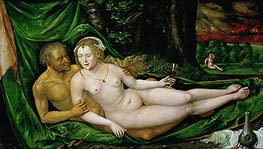 Lot and His Daughters, undated von Lucas Cranach | Gemälde-Reproduktion