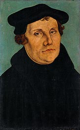 Portrait of Martin Luther, 1529 von Lucas Cranach | Gemälde-Reproduktion
