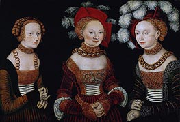 The Princesses Sibylla, Emilia and Sidonia of Saxony | Lucas Cranach | outdated