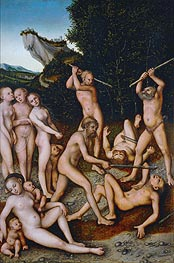 The Silver Age (The Effects of Jealousy), 1535 von Lucas Cranach | Gemälde-Reproduktion